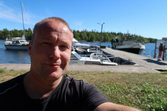 Mikkelinsaarten Kummelskäret venesatamassa ruokatauolla