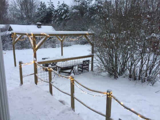Piha Tapaninpäivänä 2017 klo14:00, -1°C, tyyni keli, 20cm lunta